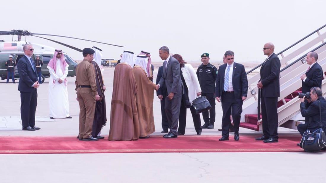 بالفيديو: جلسة مباحثات بين الملك سلمان وأوباما في السعودية