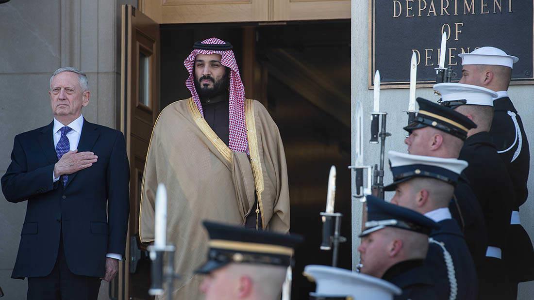 محمد بن سلمان لوزير الدفاع الأمريكي: نواجه تحديا خطيرا جدا من إيران والمنظمات الإرهابية