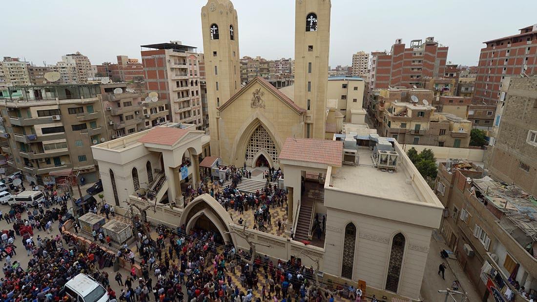 شاهد.. لحظة انفجار طنطا من داخل الكنيسة