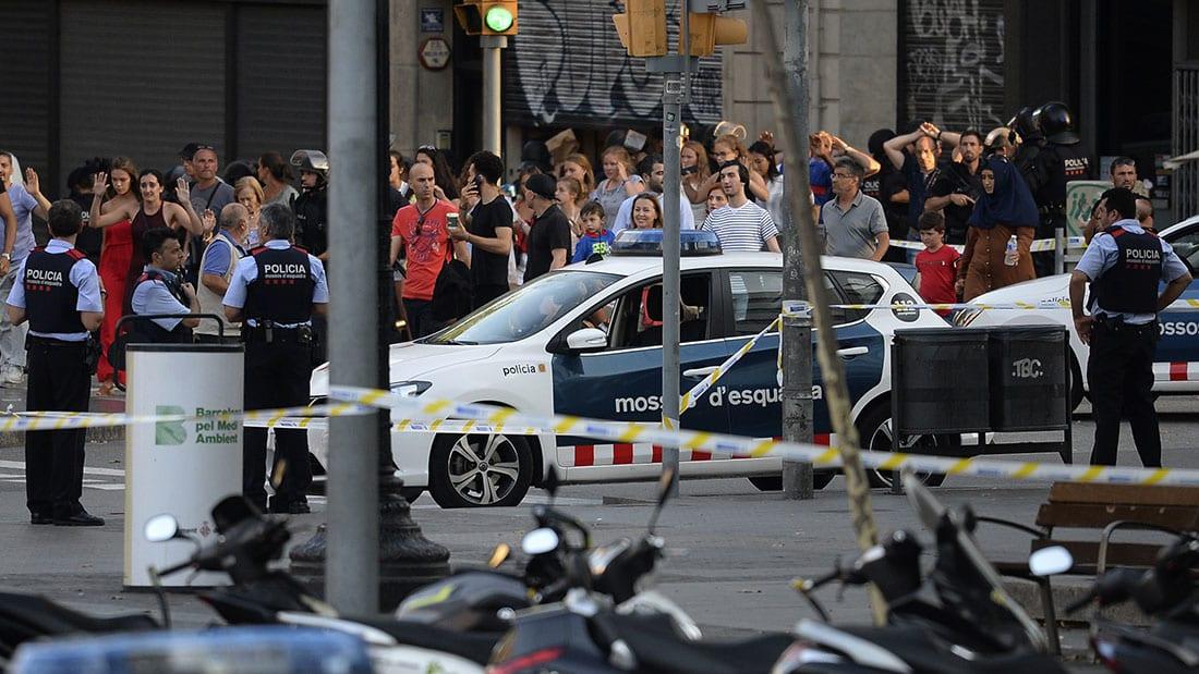 شاهد.. اللحظات الأولى بعد هجوم الدهس في برشلونة