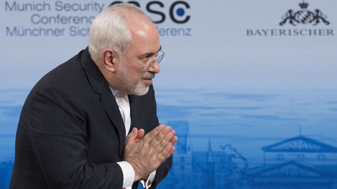 """شاهد.. ظريف عن نتنياهو: كلمته """"سيرك كارتوني"""" وسنحافظ على الاتفاق النووي رغماً عنه"""
