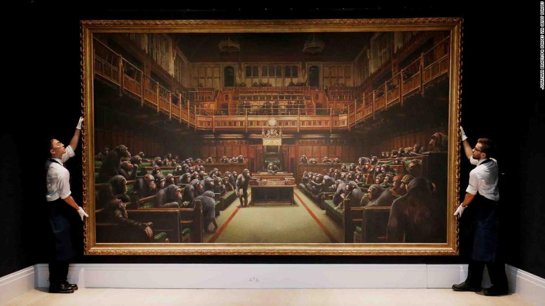"""""""قردة في البرلمان البريطاني"""".. لوحة تباع بـ12 مليون دولار"""