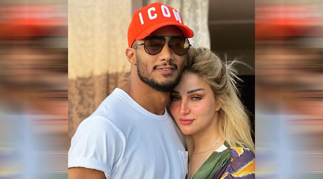 بعد أسبوعين على تعليق عنصري عن لون بشرة ابنه.. محمد رمضان ينشر صورة مع زوجته: شريكة نجاحي