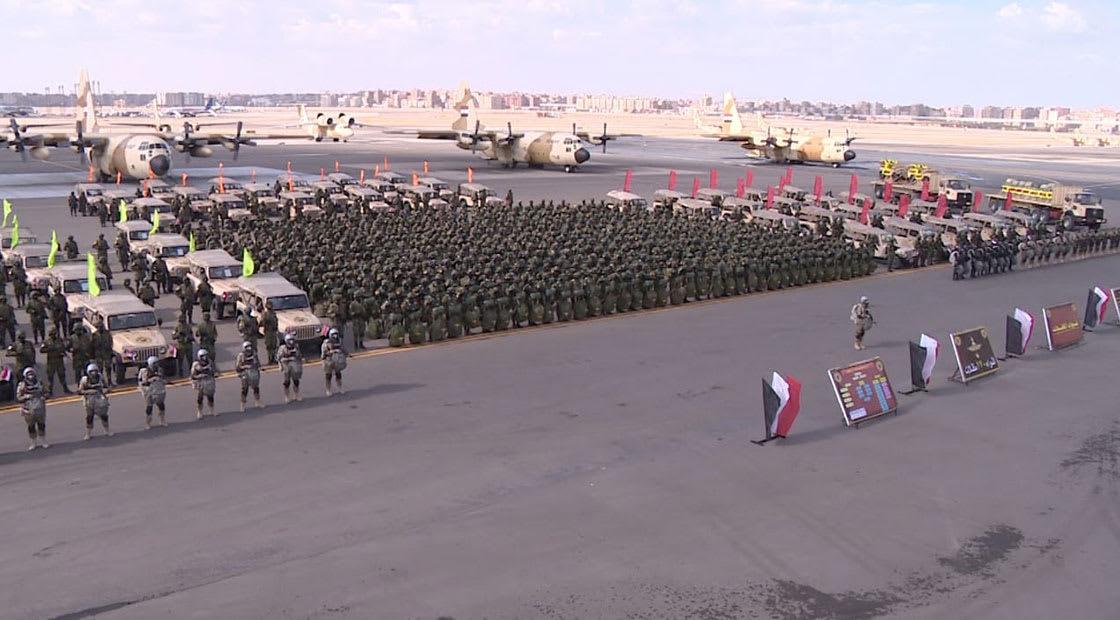 صورة أرشيفية من عرض عسكري مصري