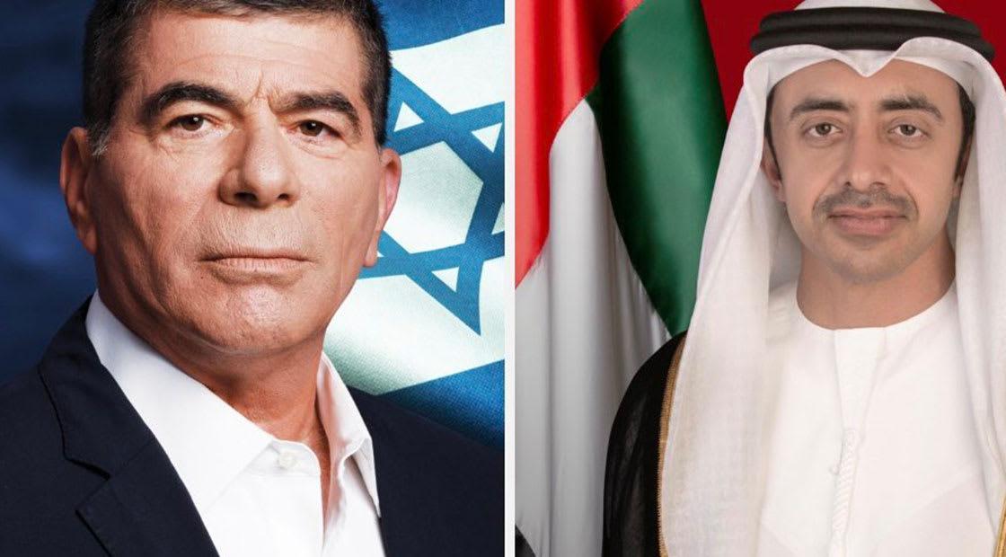 وزيرا خارجية الإمارات وإسرائيل يدشنان خطوط التواصل المشترك