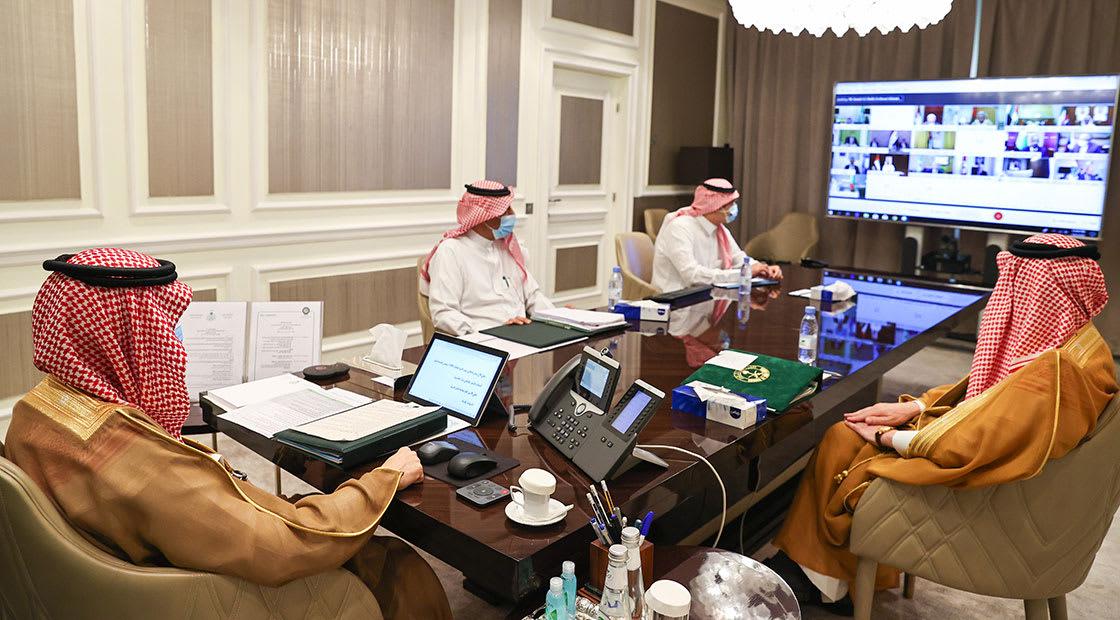 وزير الخارجية السعودي خلال الجلسة