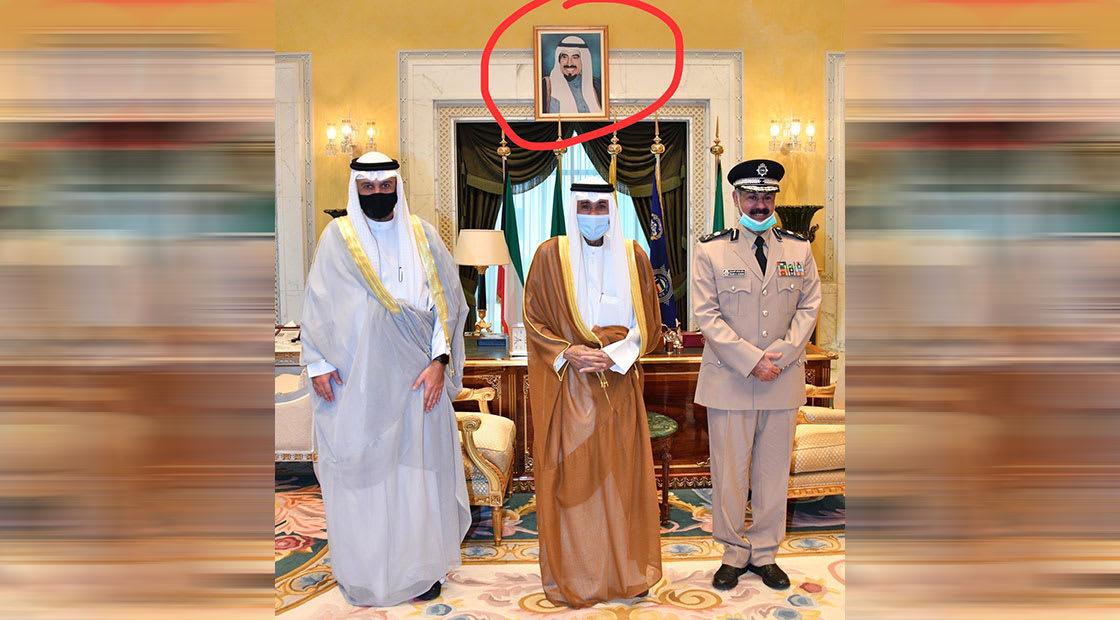 الصورة التي نشرتها فجر السعيد وألقت فيها الصوء على غياب صورة أمير الكويت الشيخ صباح الأحمد