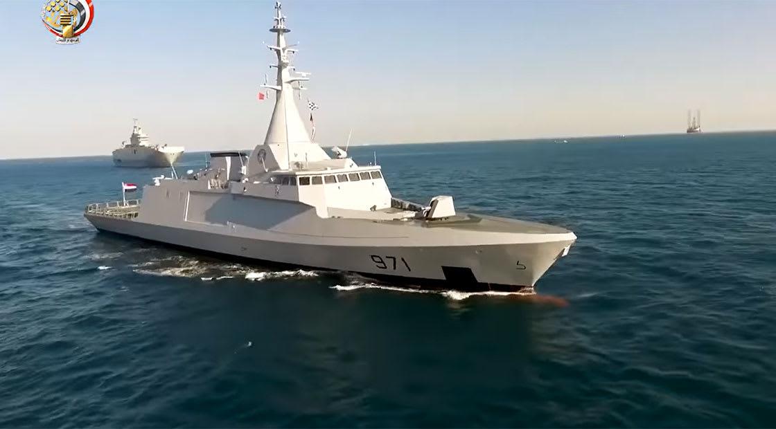صورة أرشيفية لقطعة تابعة للبحرية المصرية