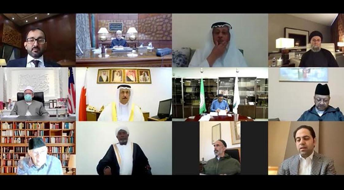 """من اجتماع حكماء المسلمين عبر """"فيديو كونفرنس"""""""
