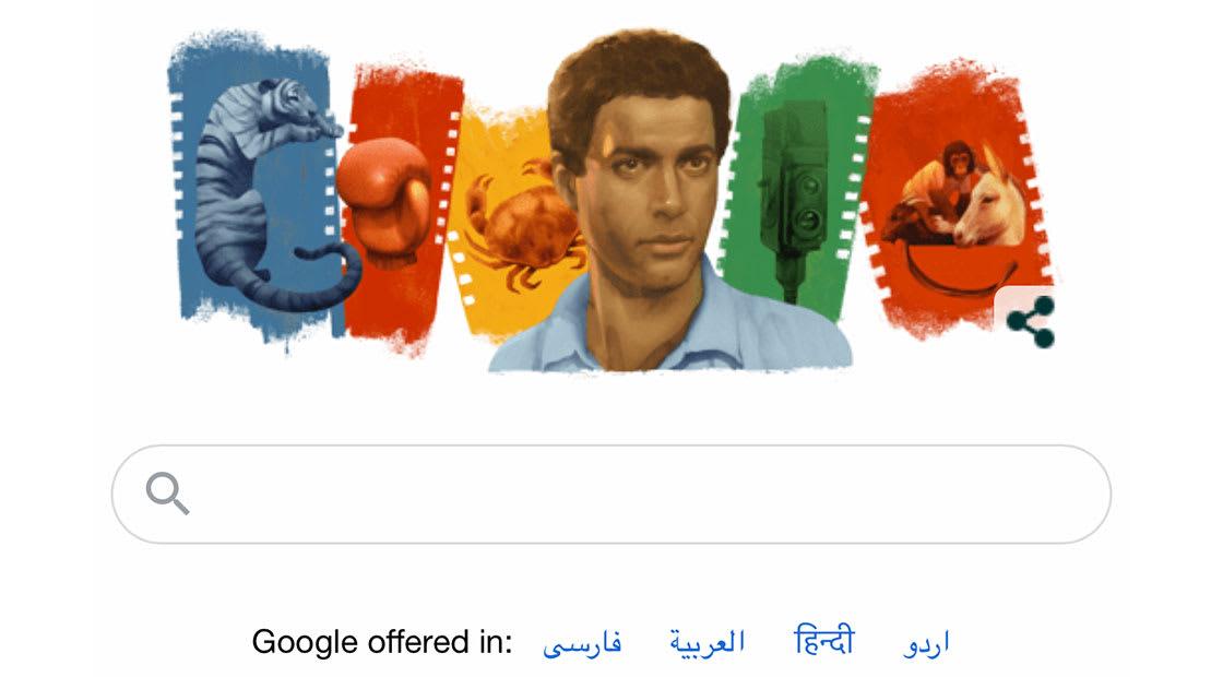 شعار غوغل يخلد الممثل أحمد زكي في عيد ميلاده اليوم.. شاهد