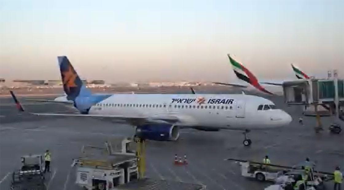 رحلة إسرآير في مطار دبي