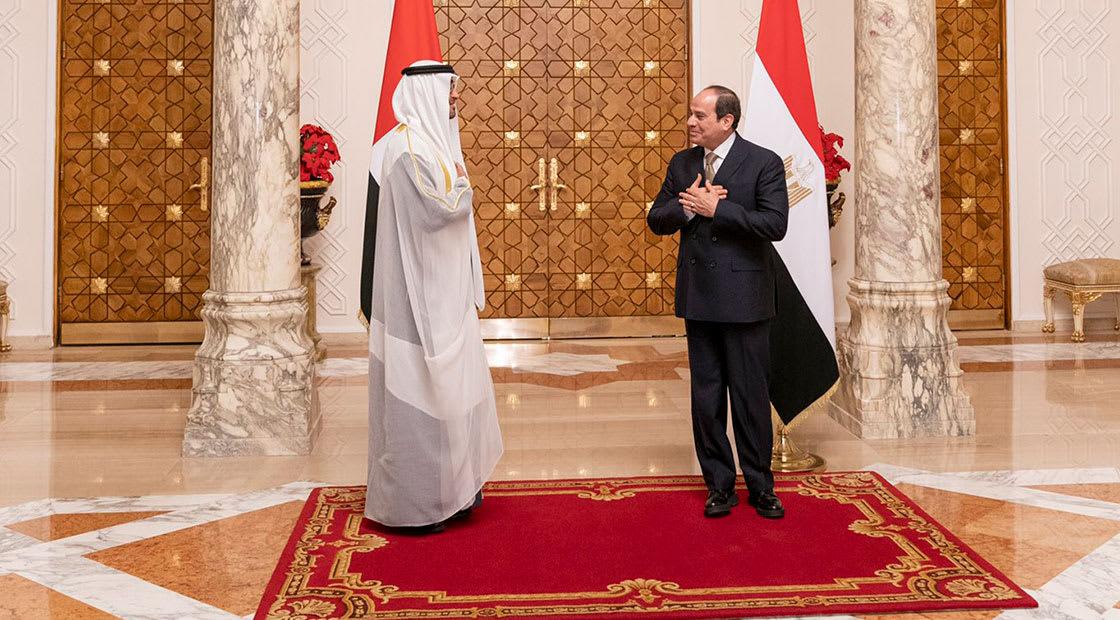 من لقاء السيسي ومحمد بن زايد