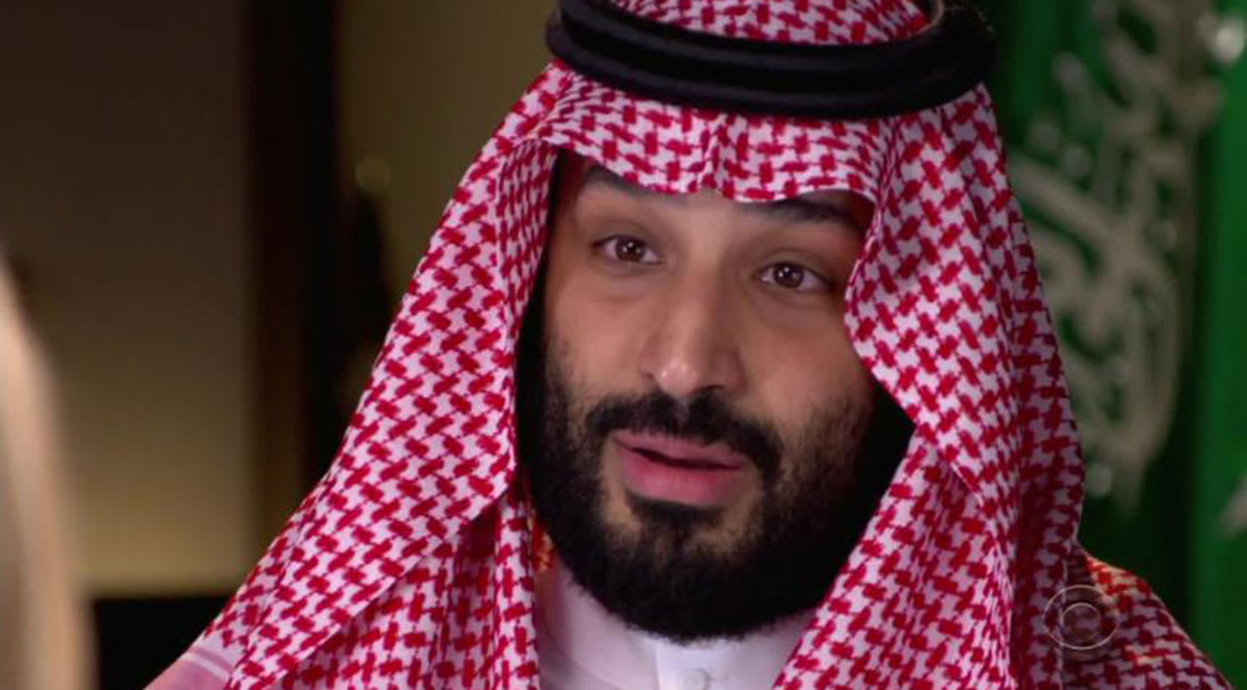 ولي عهد السعودية الأمير محمد بن سلمان في صورة من مقابلة نفى فيها أي مشاركة بمقتل خاشقجي