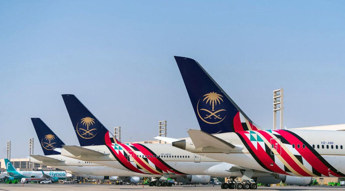 صورة ارشيفية عامة لطائرات تابعة للخطوط الجوية السعودية