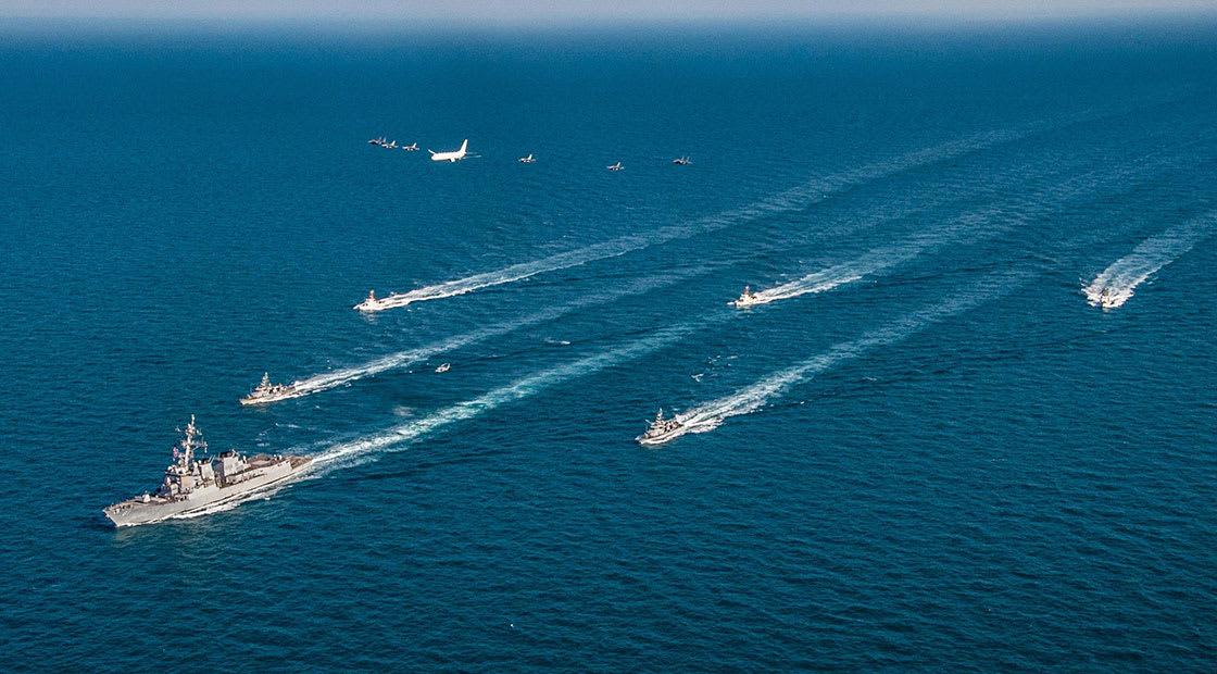صورة من تدريبات عسكرية أمركية خليجية مشتركة في الخليج