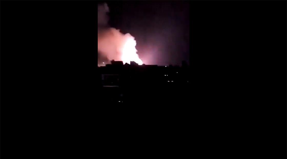 صورة من الفيديو الذي نشره التحالف