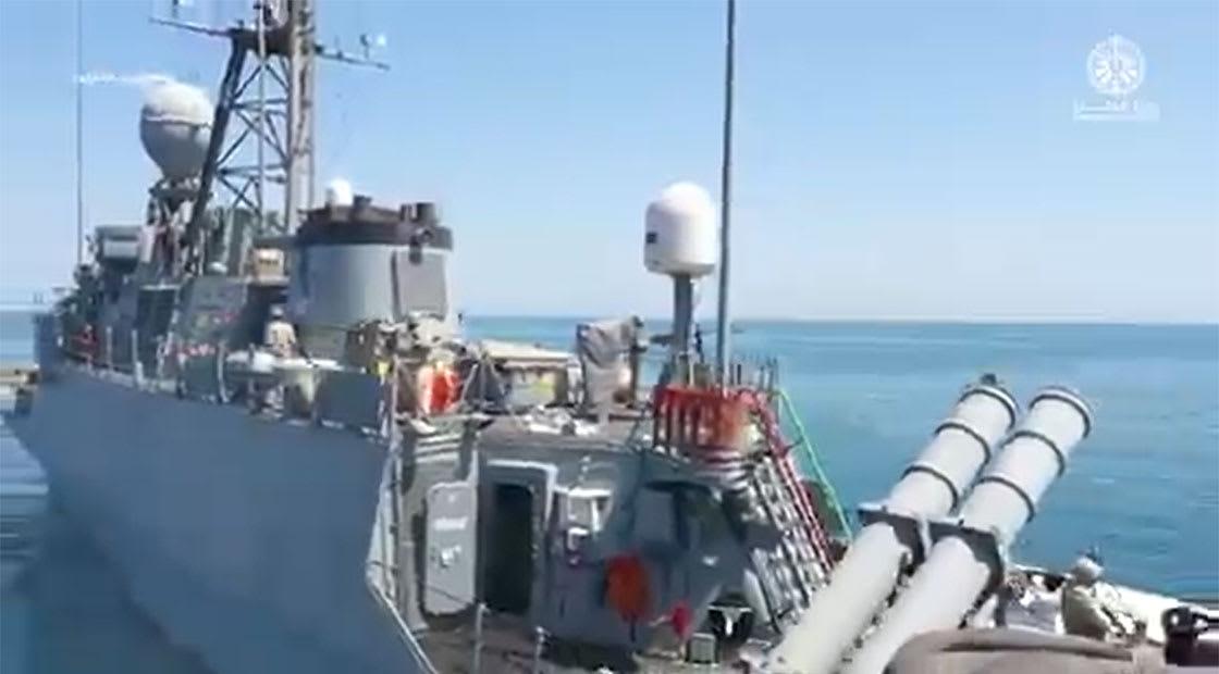 صورة أرشيفية لقطعة تابعة للبحرية السعودية خلال تدريبات