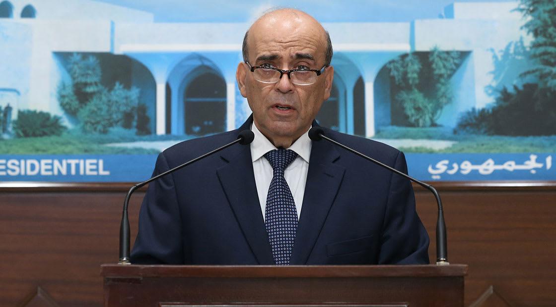 شربل وهبه يقدم للرئيس اللبناني طلب اعفائه من منصبه