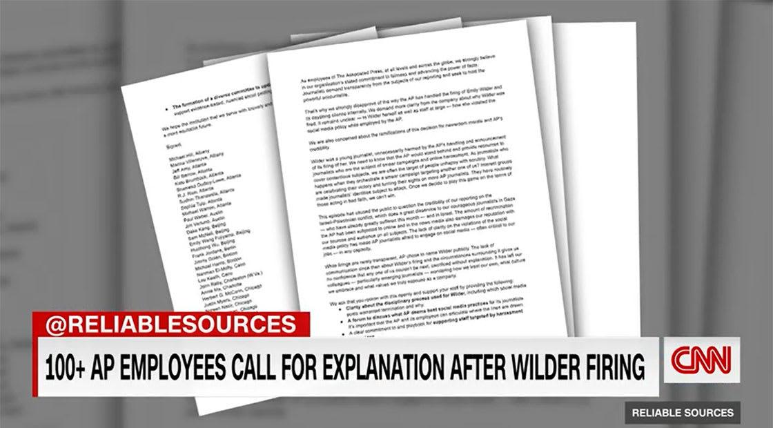 رسالة مفتوحة من زملاء وايلدر في AP