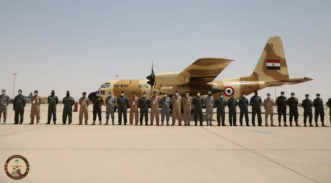 صورة قوات مصرية مشاركة في التدريبات