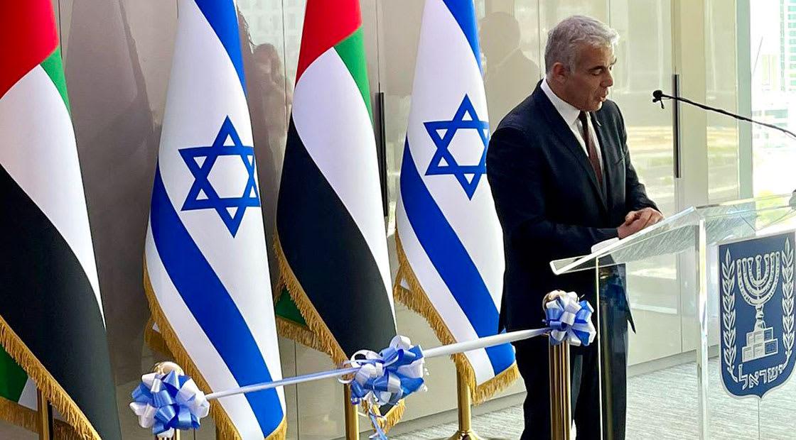 يائير لابيد في افتتاح القنصلية الإسرائيلية في دبي