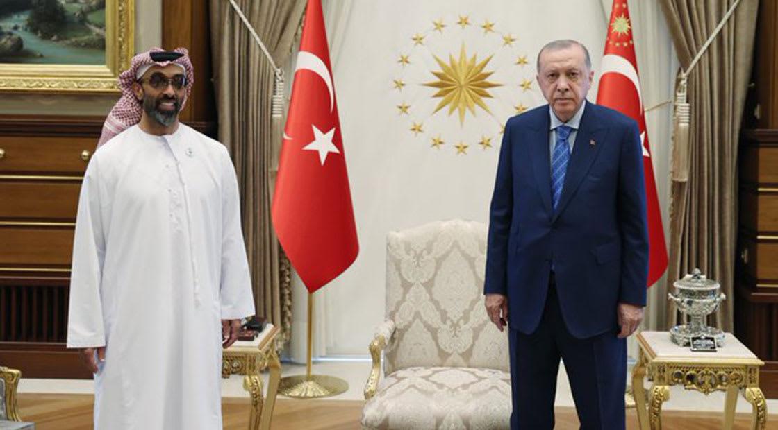 لقاء الرئيس أردوغان والشيخ طحنون