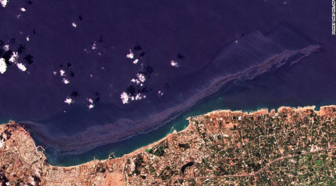 بصور أقمار صناعية.. هذا حجم التسرب النفطي السوري الذي قد يصل قبرص الأربعاء