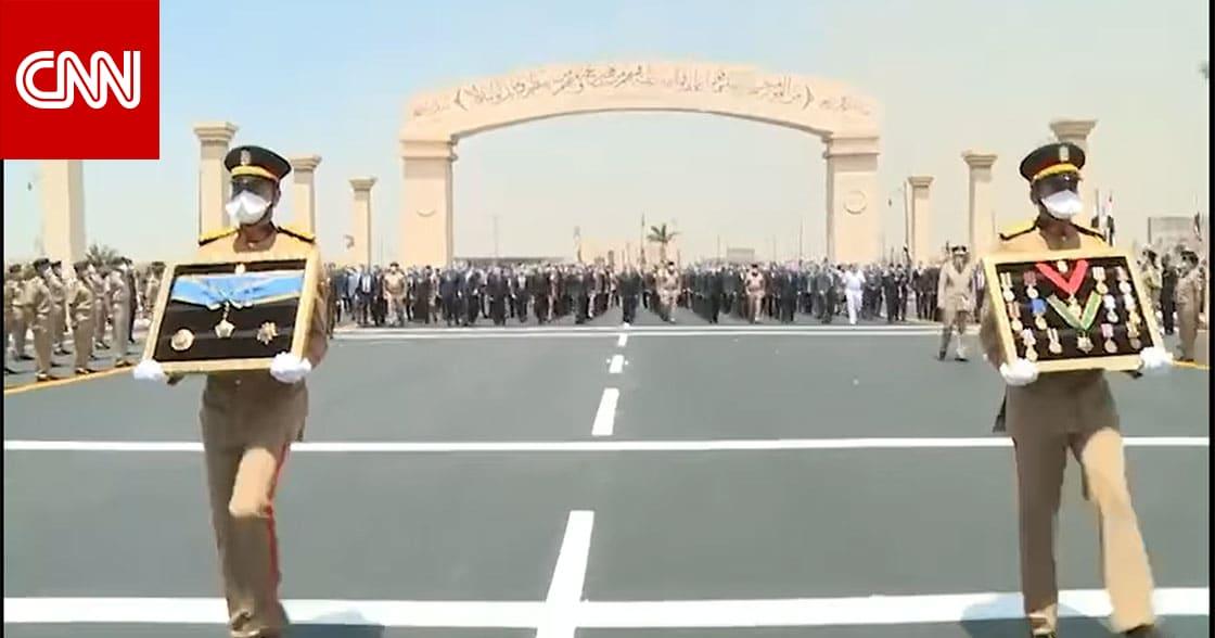 شاهد جنازة المشير طنطاوي التي يتقدمها الرئيس السيسي