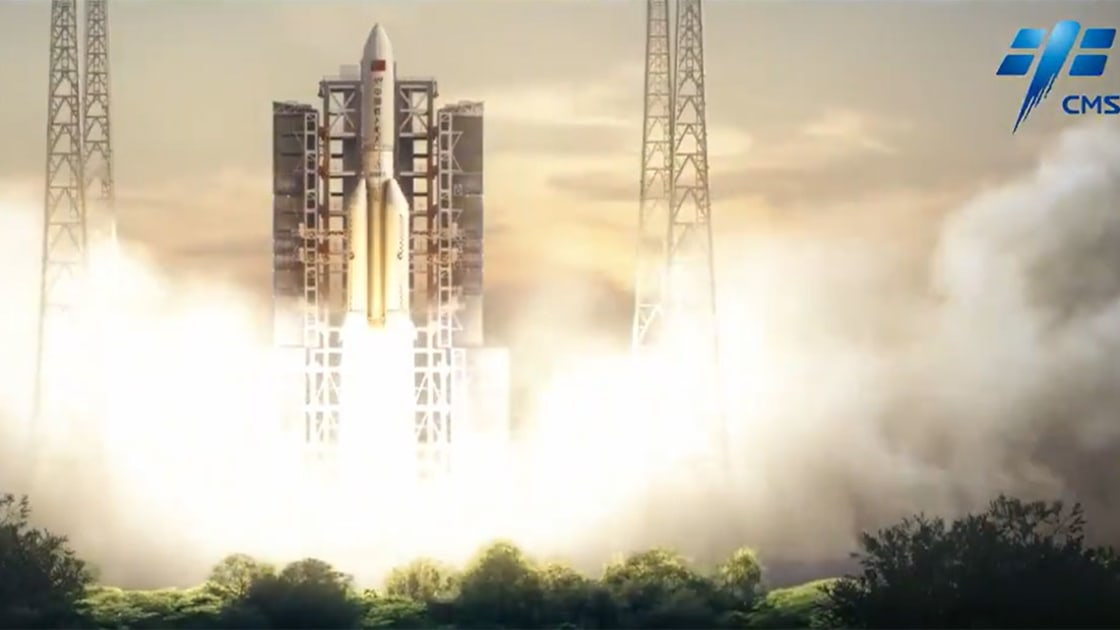 شاهد أول صورة للصاروخ الصيني التائه الذي يتوقع أن يصطدم بالأرض