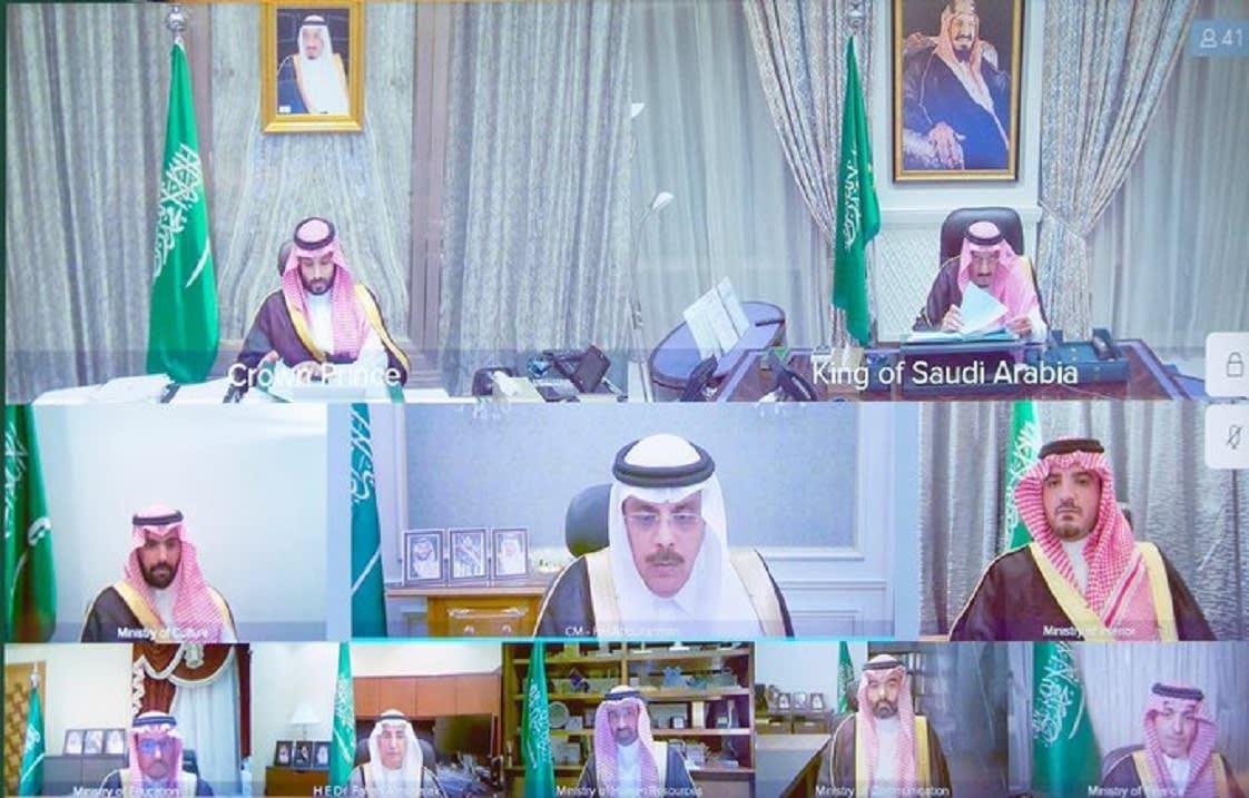 الملك سلمان يعقد اجتماعًا للحكومة عبر الاتصال المرئي