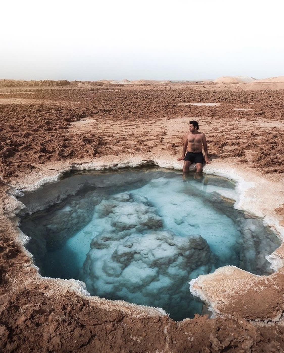 بحيرات الملح في واحة سيوة بمصر