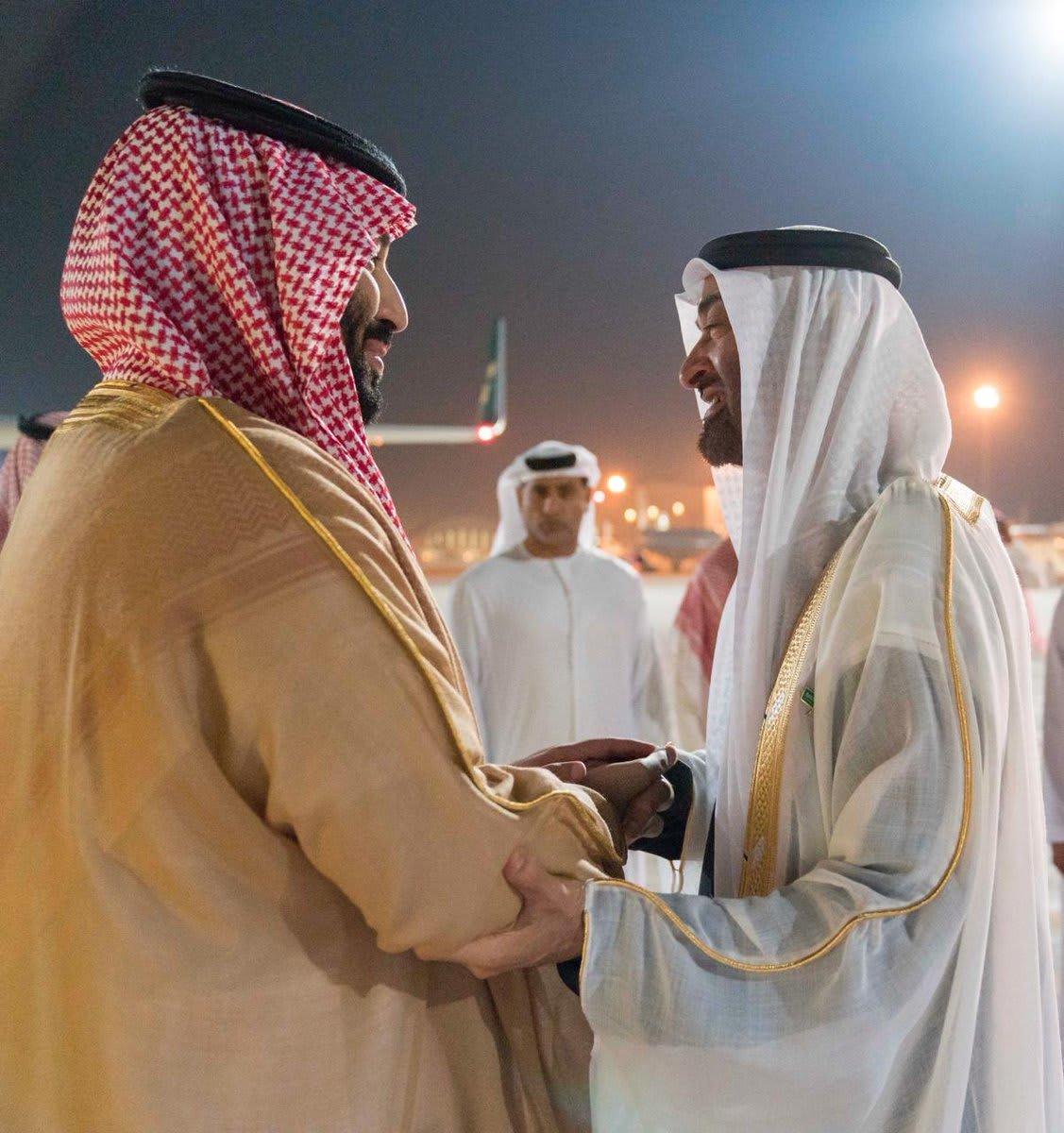 الإمارات أولى محطات الجولة العربية لولي العهد السعودي.. ومحمد بن زايد في مقدمة مستقبليه