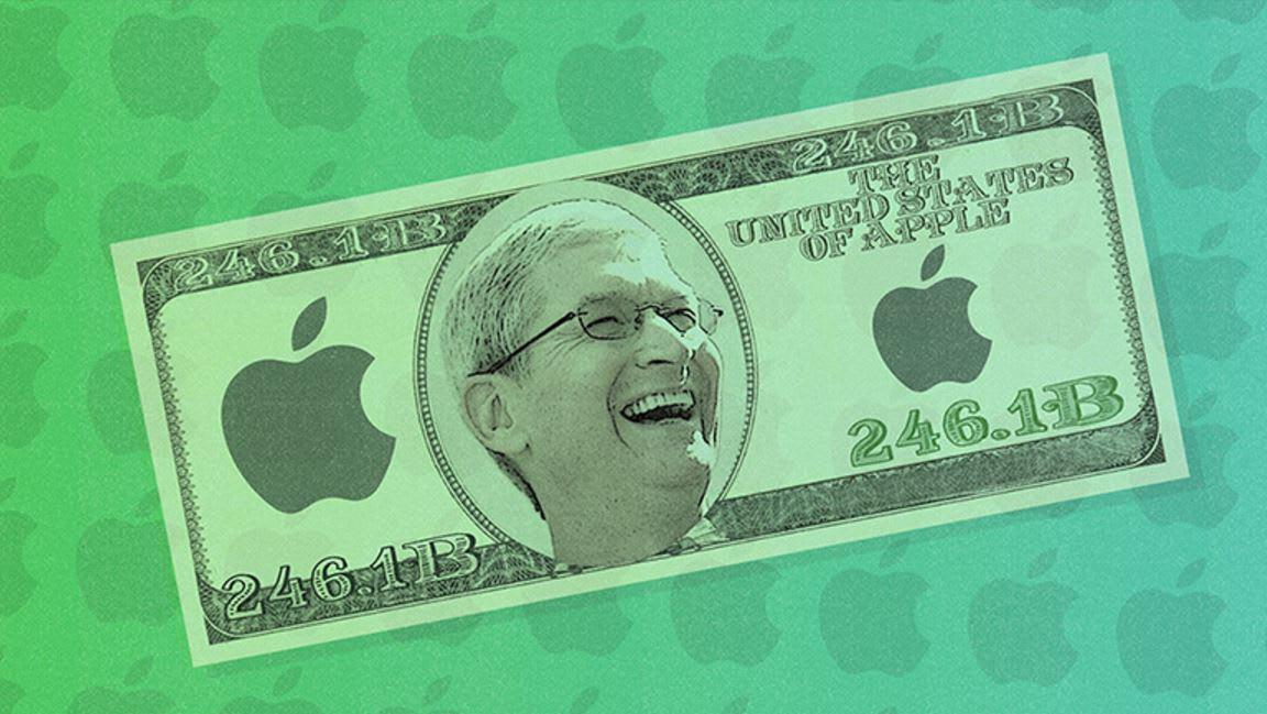 آبل لديها 246 مليار دولار نقداً.. هل تعلم ما يمكنها فعله بهذا المال؟