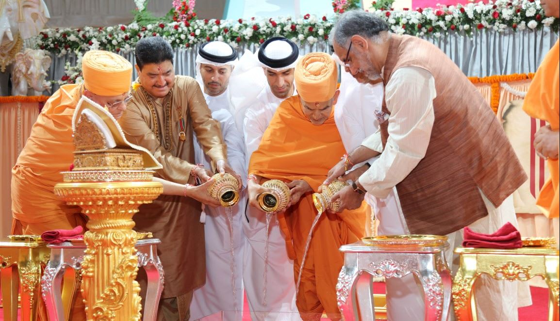 في ظل عام التسامح.. وضع حجر أساس أول معبد هندوسي بأبوظبي