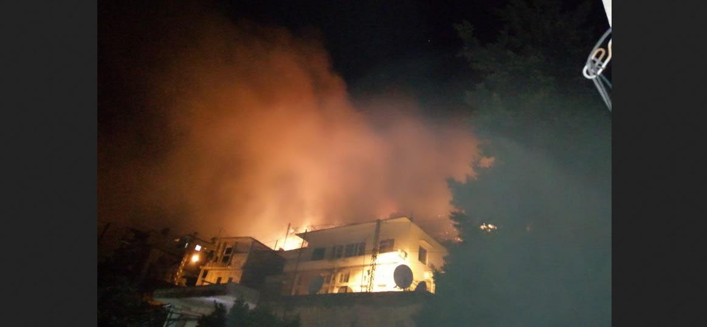 حرائق في منطقة البقاع الغربي جنوب شرق العاصمة بيروت