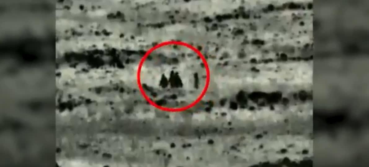 """صورة من مقطع الفيديو الذي نشره الجيش الإسرائيلي حول """"زرع عبوات ناسفة في الجولان"""""""