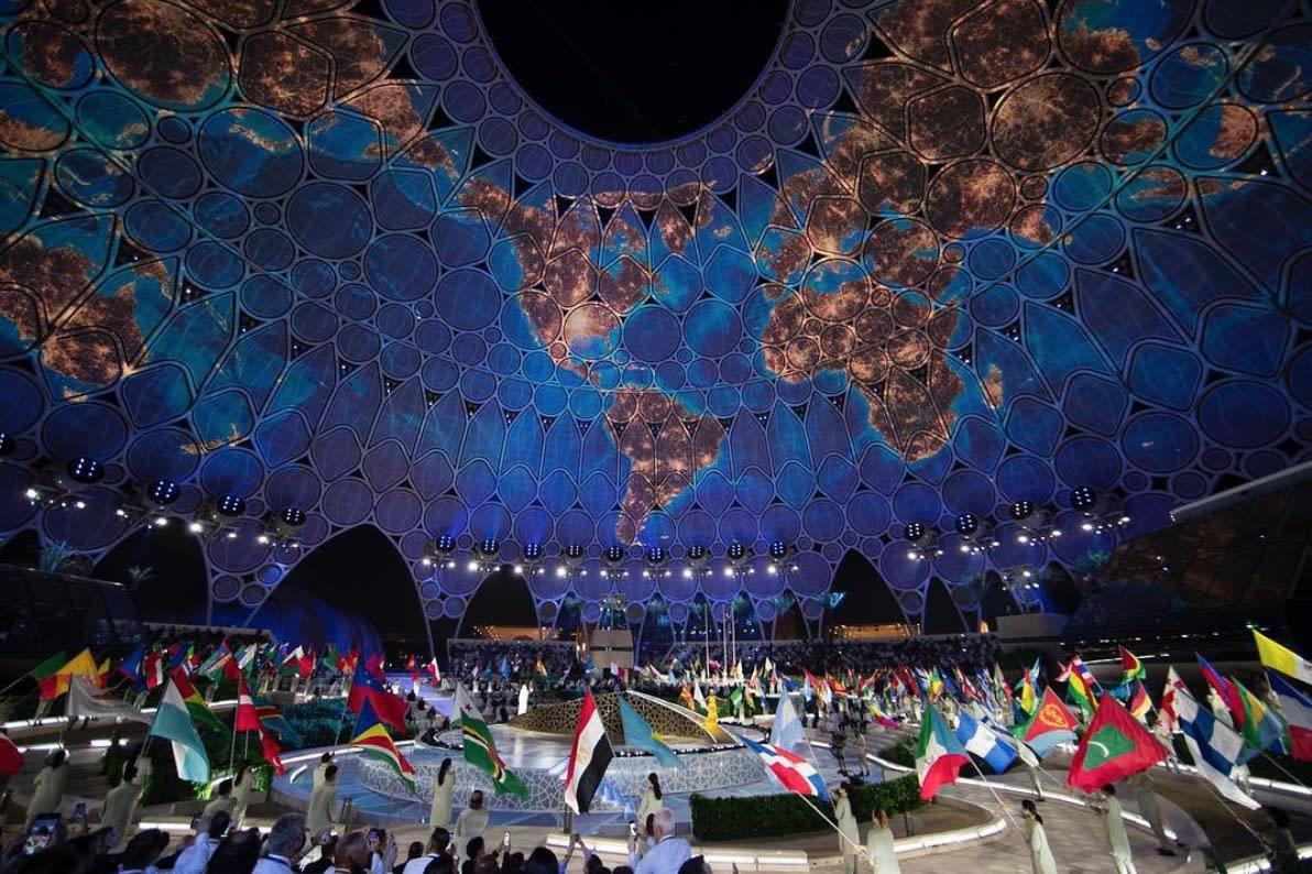 فرقة أوركسترا نسائية تعزف بأناملها للعالم خلال حفل افتتاح إكسبو دبي