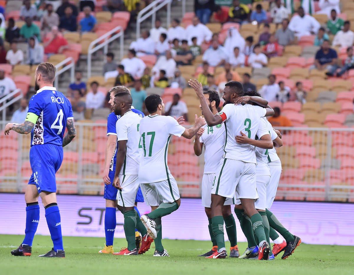 السعودية تستهل تحضيراتها لكأس العالم 2018 باكتساح مولدوفا
