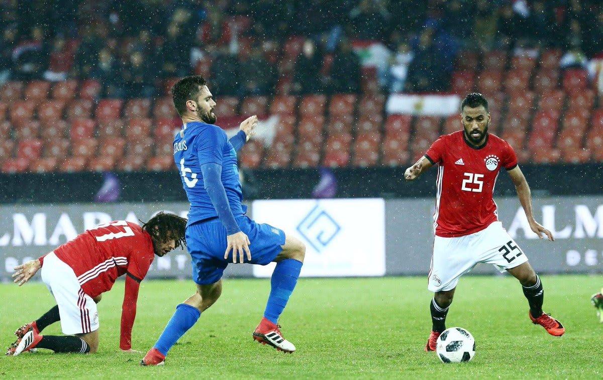 أداء مخيب للفراعنة.. مصر تخسر أمام اليونان وديا قبل كأس العالم