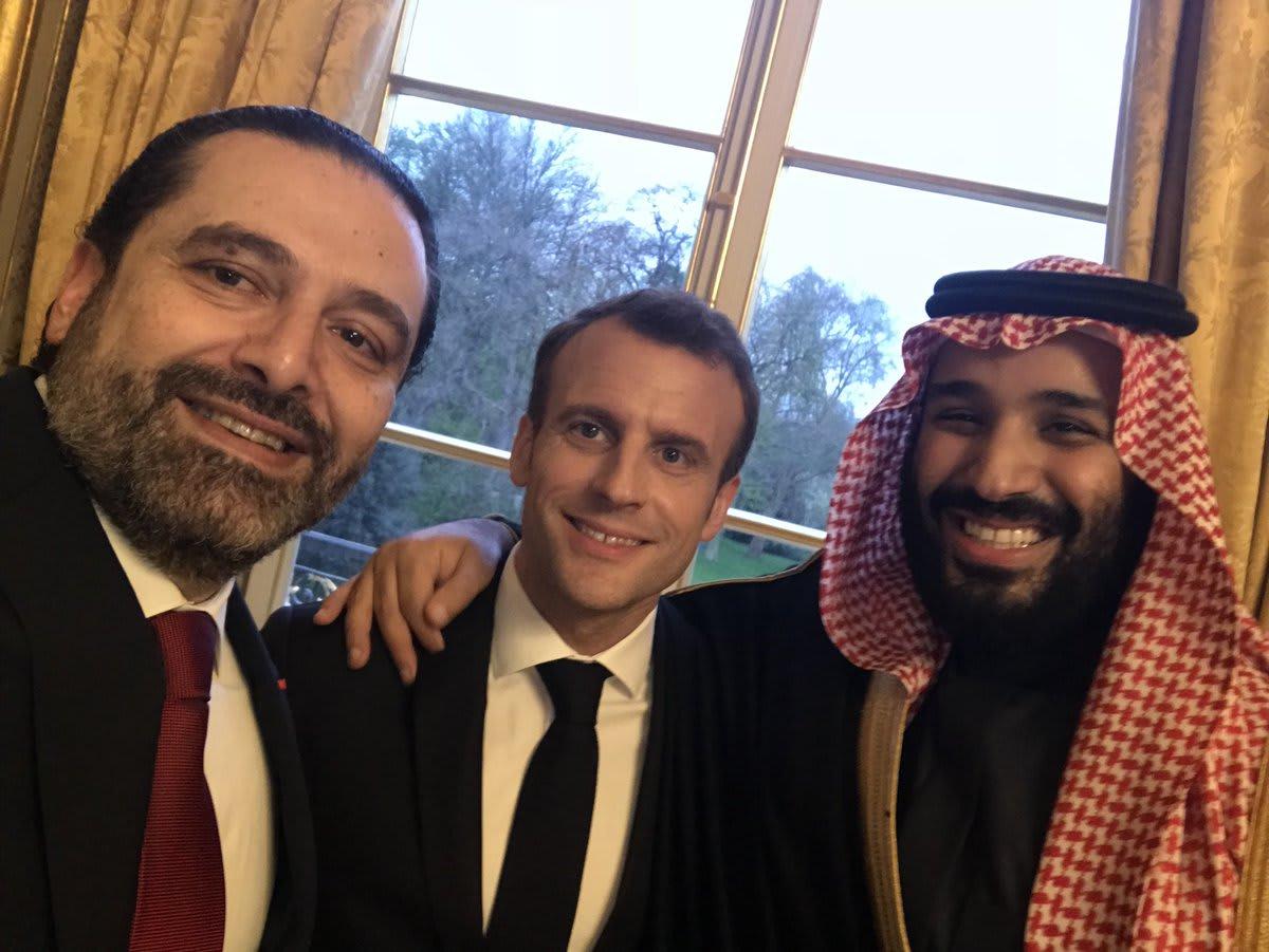 الحريري عن صورة تجمعه بولي العهد السعودي وماكرون: لا تعليق