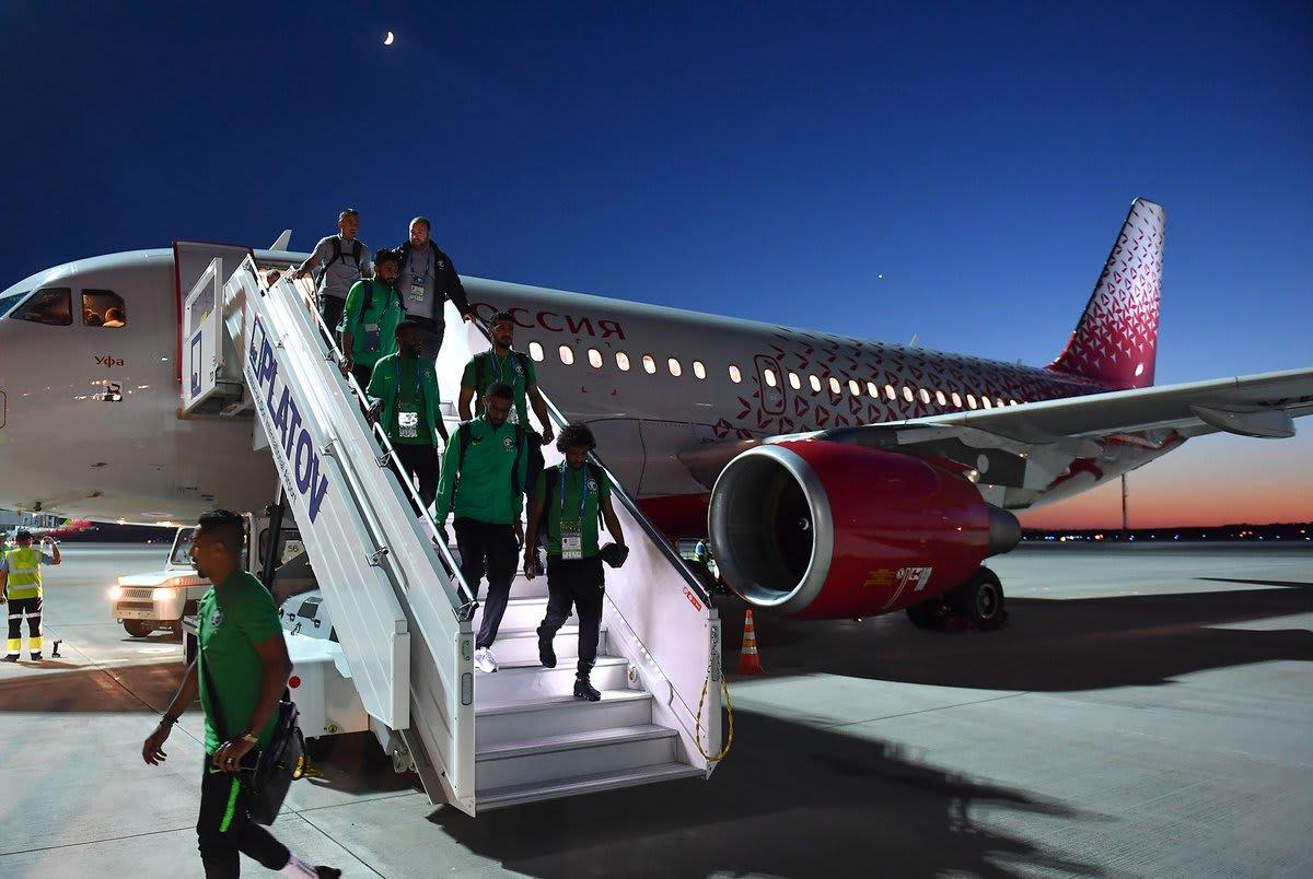 طائرة المنتخب السعودي تتعرض لعطل فني خلال الرحلة إلى روستوف