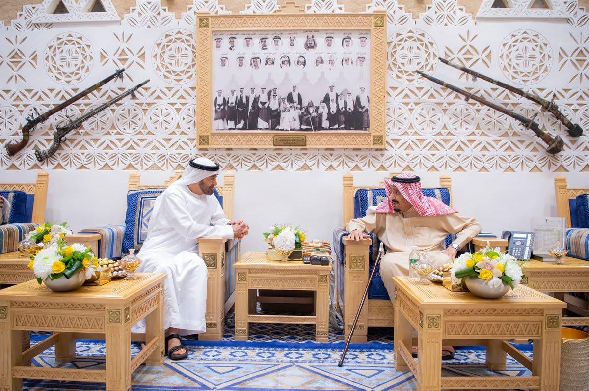 الملك سلمان يستقبل الشيخ محمد بن زايد في الرياض
