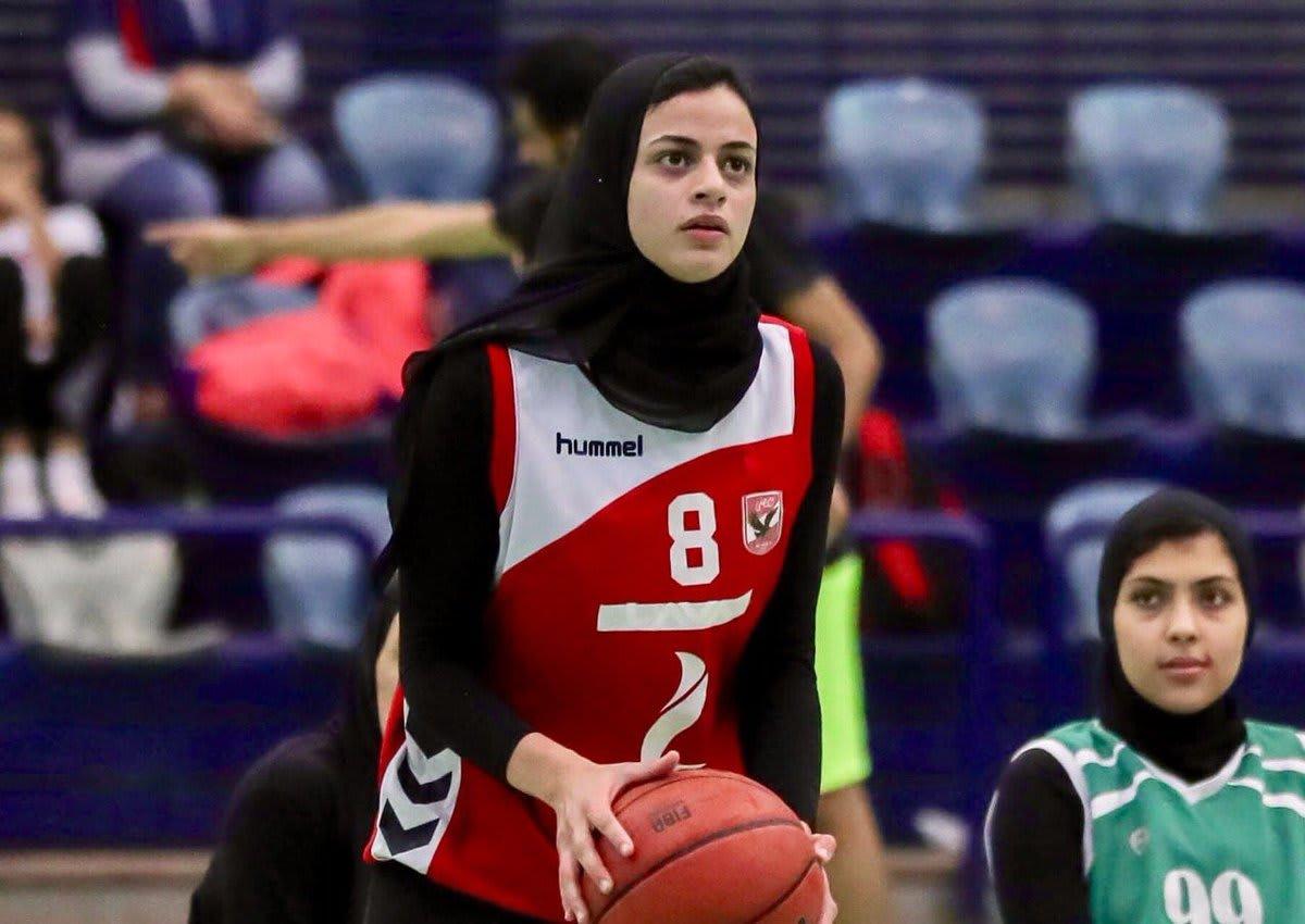لاعبة كرة السلة المصرية ثريا محمد