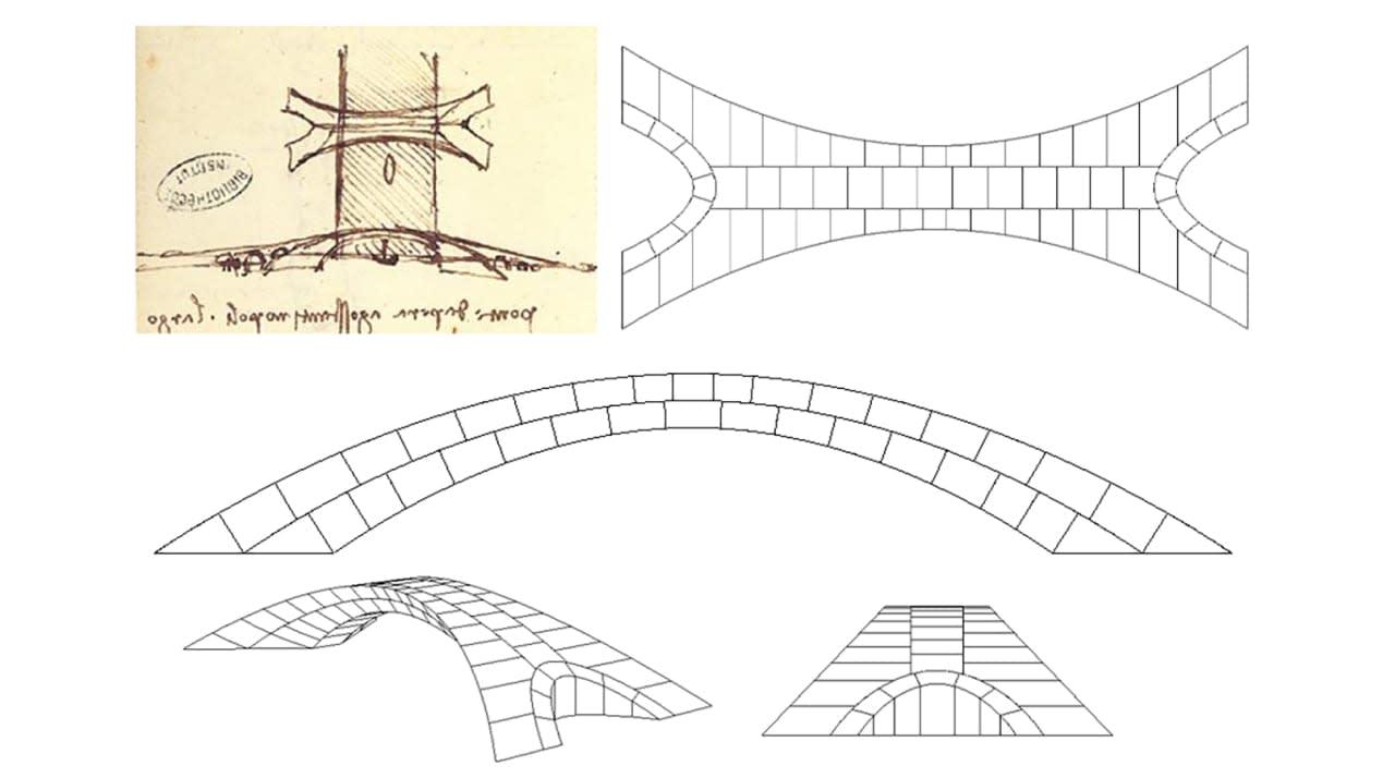تصميم جسر دافنشي يعود إلى الحياة..فهل كان لينجح تصميمه سابقاً؟
