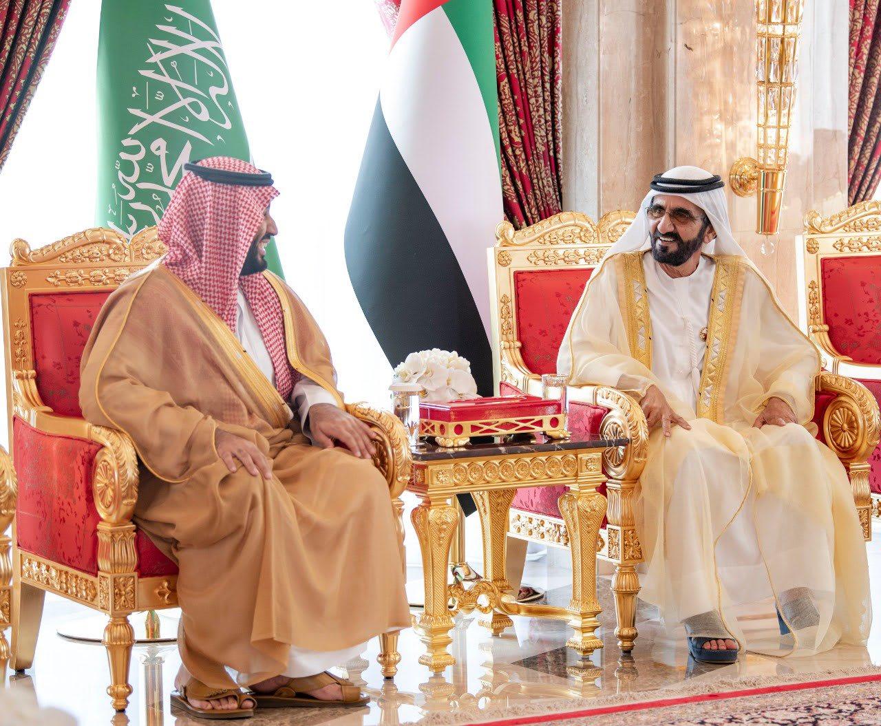 الشيخ محمد بن راشد حاكم دبي يستقبل ولي العهد السعودي محمد بن سلمان
