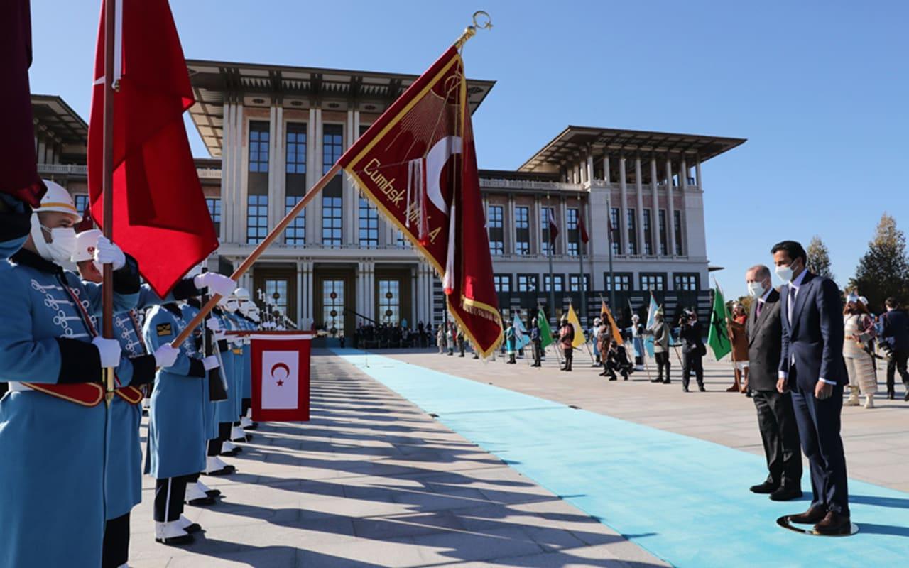 أردوغان يستقبل أمير قطر