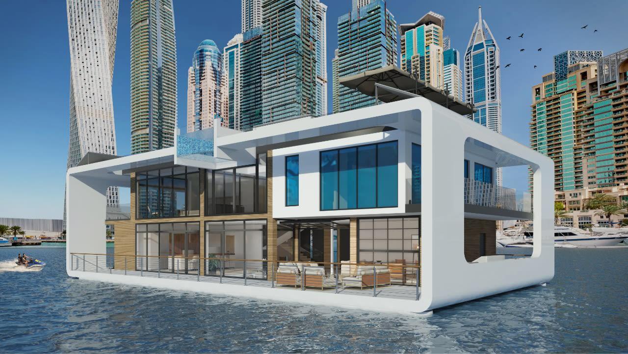 """بصور لم تر من قبل.. إليك منتجع """"قصر البحر"""" العائم الذي سيزين ساحل دبي"""