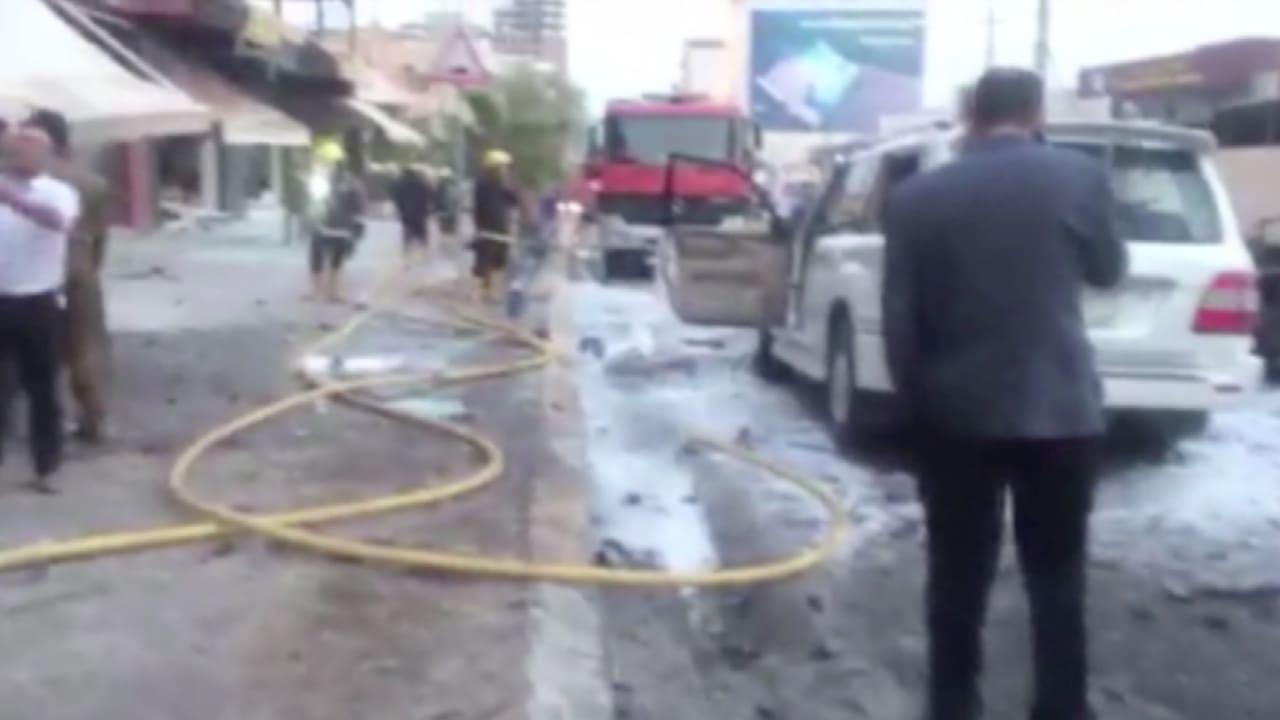 بالفيديو.. مشاهد من الانفجار الذي استهدف القنصلية الأمريكية في إربيل