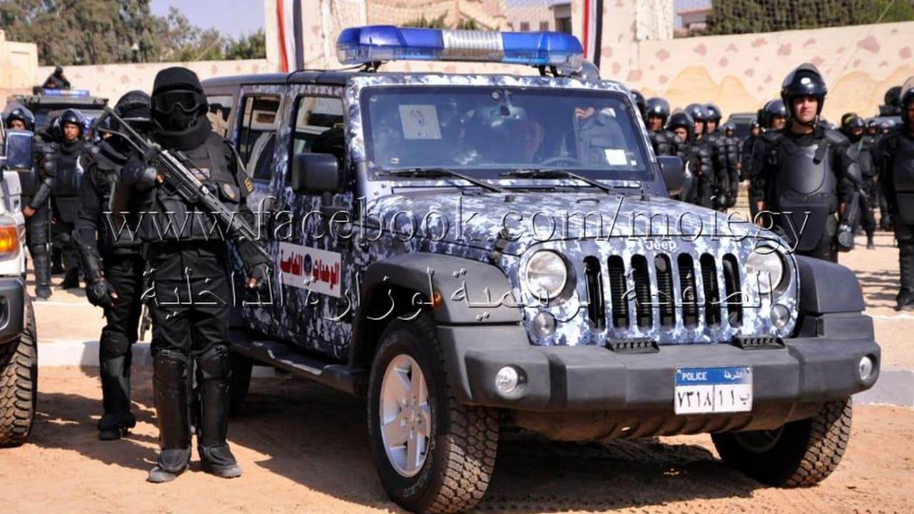 جانب من قوات الشرطة المشاركة في تأمين العملية الإنتخابية 2015