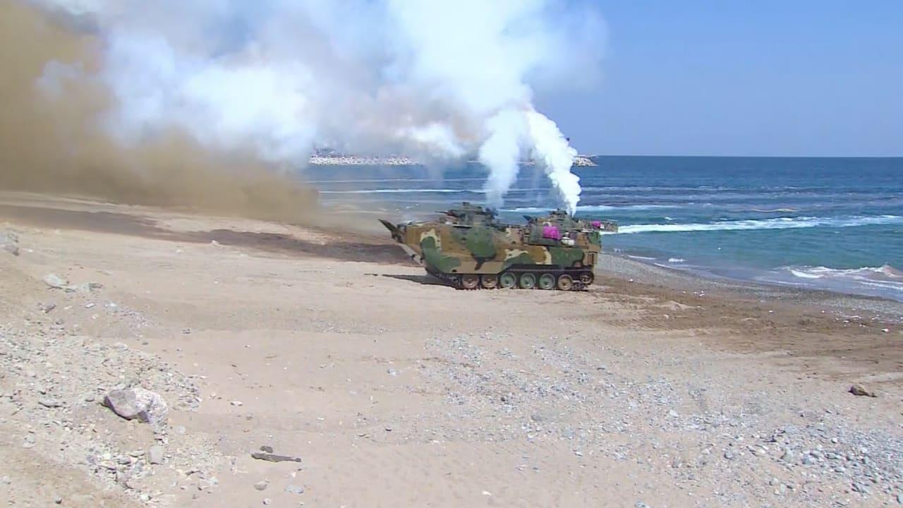 شاهد.. مناورات عسكرية ضخمة بين كوريا الجنوبية والولايات المتحدة